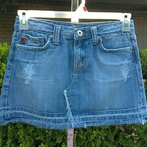 Miss Me Distress Denim Skirt Size S
